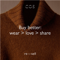 Discover past COS pieces you can't find anywhere else with Resell: a destination to buy and sell pre-owned styles from one COS lover to another. Featuring new arrivals daily.​ Upload your old favourites. Explore new ones. Join the Resell revolution.​ Uploads available in UK and Germany (we are working on more countries!), shipping available globally. ​... Find out more: festivalwalk ​