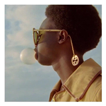 Adorned with interchangeable dangling charms that can be removed, repositioned and replaced on the gold metal braided temples, the new Gucci Eyewear collection is available exclusively on on.gucci.com/Eyewearltd_