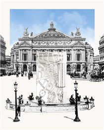 "The new ""Paris"" lighter offers a bird's eye view of meaningful Parisian locations for S.T. Dupont. As for example ""10 rue de la Paix"" the address of our flagship store between Opera Garnier and Place Vendôme."