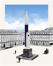 "The Parisian map is deployed on the cap of the ""Paris"" pen. Through this graphic collection, Paris is celebrated for its beautiful city plan."