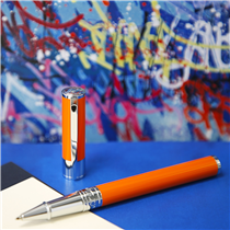 "Who said the new generation don't write anymore ? With its easy writing and pop color, the ""D-Initial"" pen is made for young writers :"